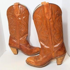 Vintage Capezio Brown Leather Boots sz 7 USA